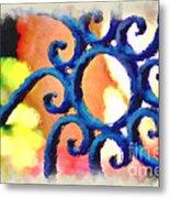 Colorful Ironwork Metal Print