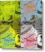 Colorful Lucy Ricardo In Semi-profile Metal Print