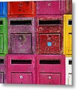 Colorful Mailboxes Metal Print