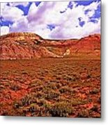 Colorful Mesas At Fossil Butte Nm Butte Metal Print