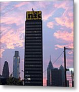 Colorful Morning Sky In Philly Metal Print