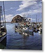 Colorful Morro Harbor Metal Print