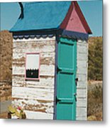Colorful Outhouse Metal Print