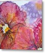 Colorful Pansies Metal Print