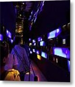 Colorful Passage Inside The Singapore Flyer Metal Print