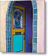 Colorful Porch Metal Print