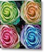 Colorful Rose Spirals Metal Print