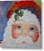 Colorful Santa Metal Print by Terri Maddin-Miller