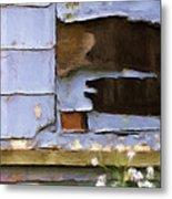 Colorful Siding Metal Print