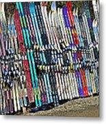 Colorful Snow Skis Metal Print
