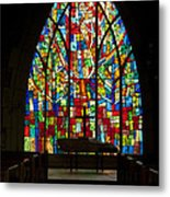 Colorful Stained Glass Chapel Window Metal Print