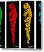 Colorful Tropical Parrot Abstract Parrot Ink Sketch Digital And Original Art By Madart Metal Print