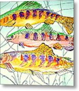 Colorful Trout Metal Print by Janna Columbus