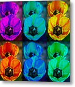 Colorful Tulip Collage Metal Print by James BO  Insogna