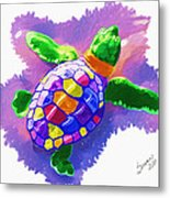 Colorful Turtle Metal Print
