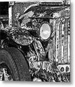 Colorful Vintage Car In Black And White Metal Print