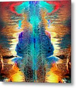 Colorful Water Color Painting Metal Print