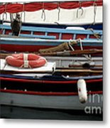 Colorful Wooden Boats Metal Print