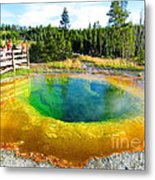 Colorful Yellowstone Metal Print