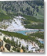 Colorful Yellowstone Valley Metal Print