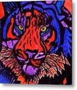 Colorfull Tiger Metal Print