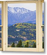 Colorful Rocky Mountain Autumn Picture Window View Metal Print