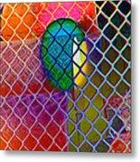 Colors Hiding Behind Fence Metal Print