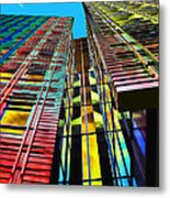 Colors In The City With Clouds Metal Print