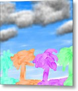 Colors Of The Palms Metal Print