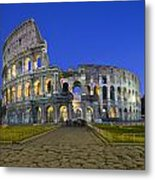 Colosseum At Blue Hour Metal Print