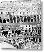 Colosseum In Rome Itlay - Interior - C 1904 Metal Print