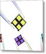 Coloured Microchips Metal Print
