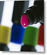 Coloured Paint In A Bottle Metal Print