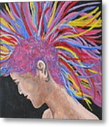 Colourful Mohawk Metal Print