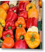 Colourful Peppers Metal Print
