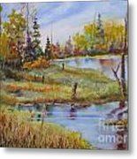 colours Of Elk Island Metal Print