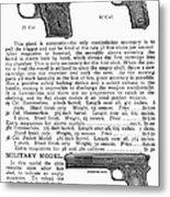 Colt Automatic Pistols Metal Print