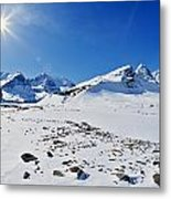 Columbia Icefield In Winter, Jasper Metal Print