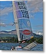 Columbia River Gorge Sailboat Racing Metal Print