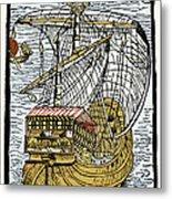 Columbus's Ship The Santa Maria Metal Print