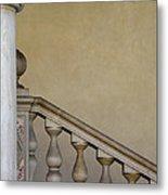 Column And Stairway At Wawel Castle In Krakow Poland Metal Print