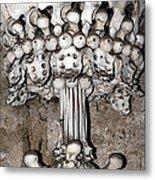 Column From Human Bones And Sku Metal Print