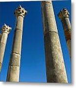 Column In Capitol In Ancient Roman City Metal Print