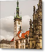 Column Of The Trinity And Town Hall Metal Print by Maremagnum