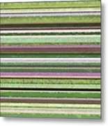 Comfortable Stripes Lv Metal Print
