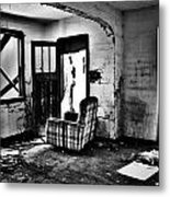 Comfortably Caged Metal Print