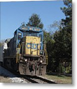 Coming Down The Track Metal Print
