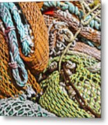 Commercial Fishing Nets And Rope Metal Print
