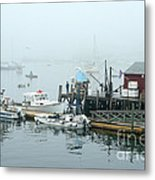 Commercial Lobster Dock Metal Print