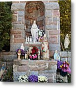 Comparison Mother Mary Shrine Metal Print